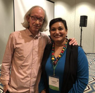 Dr. Farhana Sultana with Dr. Arturo Escobar, renowned development scholar, in New Orleans, 2018