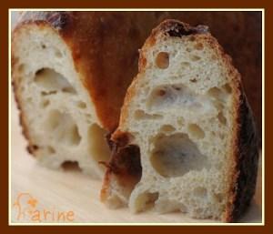 No-knead garlic parmesan bread