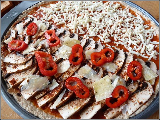 Whole grain pizza