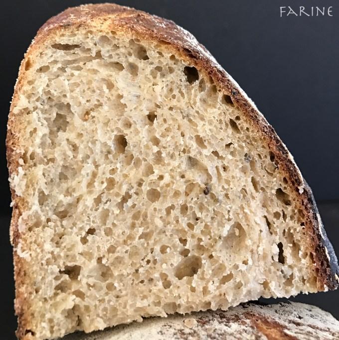 Seaweed bread: crumbshot