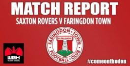 Match Report – Saxton Rovers v Faringdon Town FC