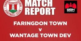 Match Report – Faringdon Town v Wantage Town Development