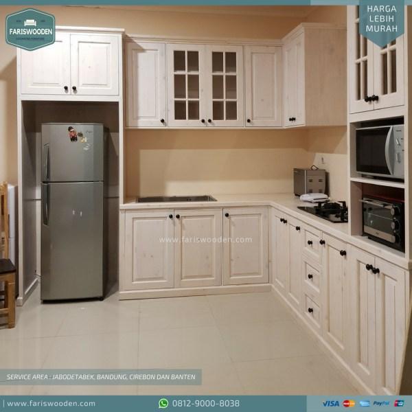 Harga Kitchen Set Per Meter Fariswooden Pinewood