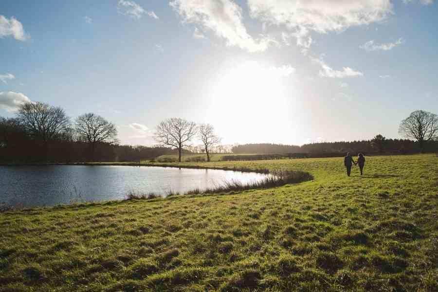 The lake Farleigh Wallop estate
