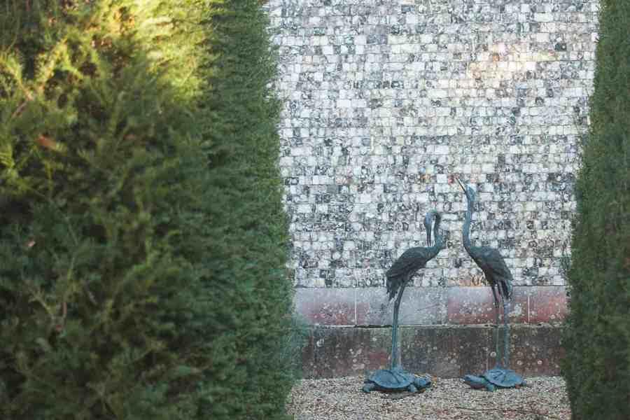 Sculpture in the garden Farleigh Wallop