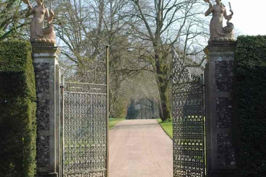 entrance gates with mermaids