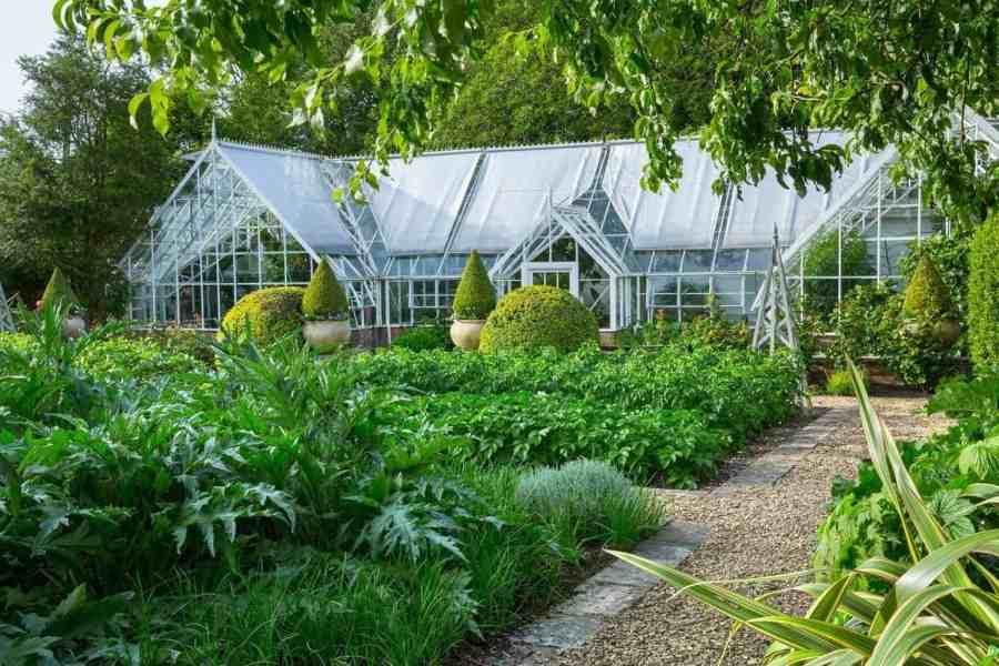Glasshouse in Farleigh Wallop Garden