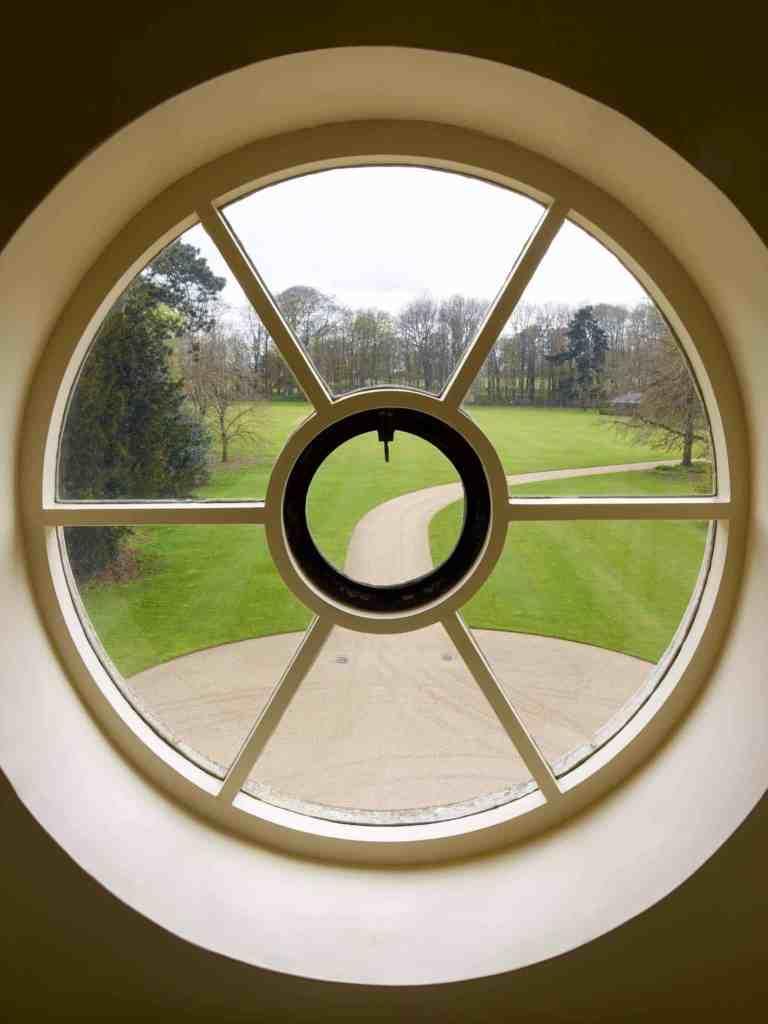 circular widow drive view