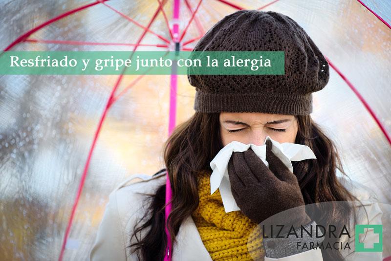 Resfriado y gripe junto con alergia
