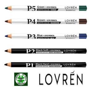 lovren matita occhi colori nero punta rigida morbida blu marrone verde