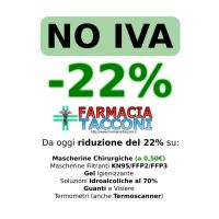 Da oggi #NOIVA: riduzione prezzi immediata del 22% sui prodotti COVID-19