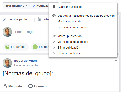 grupo de facebook para la farmacia