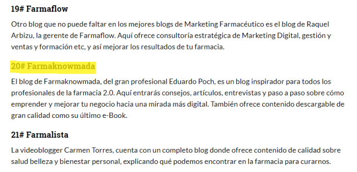 mejores blogs marketing farmacéutico