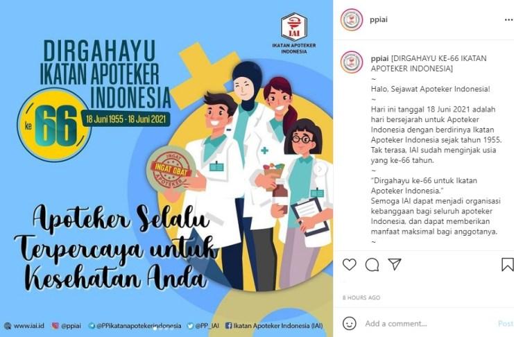 HUT APOTEKER 66 PP Ikatan Apoteker Indonesia PPIAI