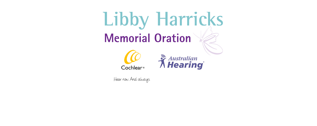 Libby Harricks Memorial Oration