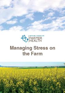 Managing Stress on the Farm Booklet