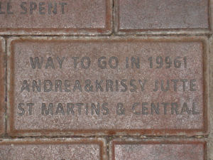 Donation brick with your name or organization on it.