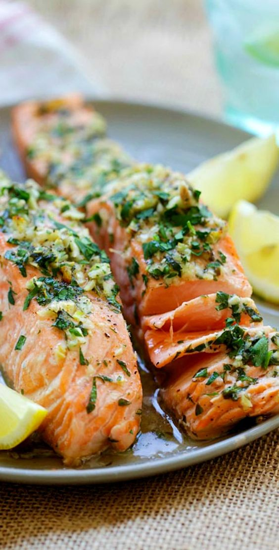 Garlic Herb Roasted Salmon