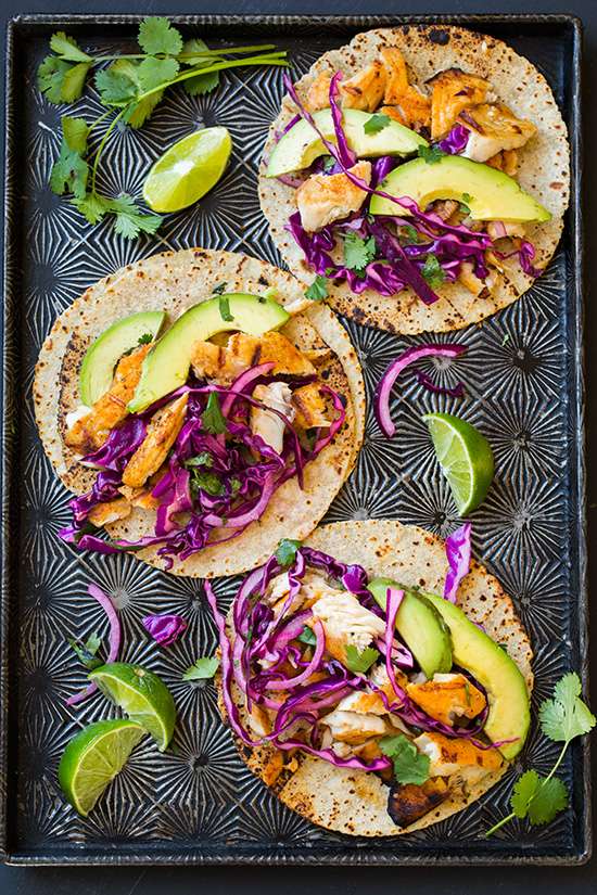 Tilapia Tacos with Tropical Salsa