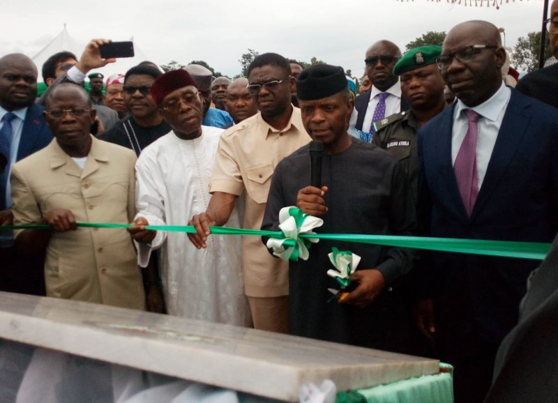 Osinbajo opens 60,000 metric tonnes fertiliser plant in Edo