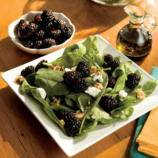 Image result for blackberry and spinach salad