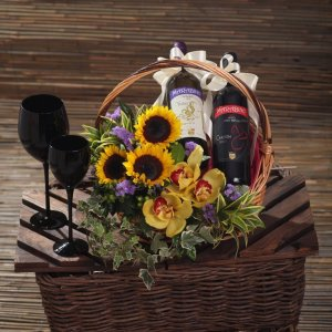 marabino wine hamper by farm florist singapore