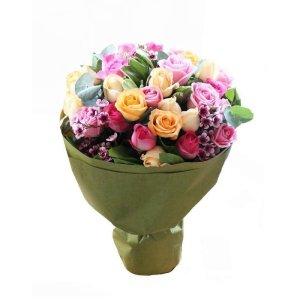april rose bouquet by farm florist