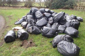 lixo do plantio