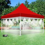 160-PSI-Mistcooling-Tent-Outdoor-Living-Misting-Tent-4-Sides-Misting-with-Mid-Pressure-Misting-Pump-Red-10-x-20-0