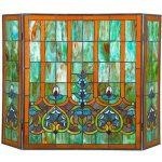 3-Panel-Stained-Glass-Fireplace-Screen-0