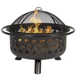 Best-Choice-Products-Bronze-Fire-Bowl-Fire-Pit-Patio-Backyard-Outdoor-Garden-Stove-Firepit-36-0