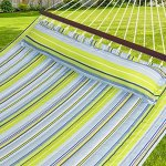 Best-Choice-Products-Hammock-Quilted-Fabric-with-Pillow-Double-Size-Spreader-Bar-Heavy-Duty-New-0