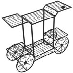 Elegant-European-Style-Cart-Design-6-Tier-Black-Metal-Planter-Flower-Pot-Holder-Display-Rack-Stand-0-1