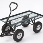Farm-Ranch-FR100F-Steel-Flatbed-Utility-Cart-with-Padded-Pull-Handle-and-10-Inch-Pneumatic-Tires-300-Pound-Capacity-34-Inches-by-18-Inches-Green-Finish-0