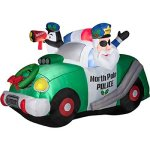 Gemmy-Inflateables-Holiday-11424-Air-Blown-North-Pole-Police-Scene-Decor-0
