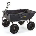 Gorilla-Carts-Extra-Heavy-Duty-Poly-Dump-Cart-with-2-in-1-Convertible-Handle-with-a-Capacity-of-1500-lb-Black-0