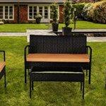 IDS-Home-Outdoor-Garden-Lawn-Patio-Furniture-Sofa-Set-PE-Rattan-Wicker-CreamBrown-Cushioned-Black-Seat-table-4-Piece-0
