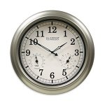 La-Crosse-Technology-IndoorOutdoor-Wall-Clock-with-Temperature-Humidity-in-Silver-0
