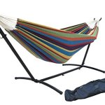 SueSport-Double-Hammock-With-Space-Saving-Steel-Stand-Includes-Portable-Carrying-Case-0