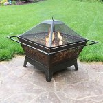Sunnydaze-32-Inch-Square-Northern-Galaxy-Fire-Pit-with-Cooking-Grate-and-Spark-Screen-0-0
