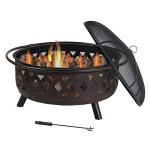 Sunnydaze-36-Inch-Large-Bronze-Crossweave-Fire-Pit-with-Spark-Screen-0