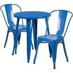 BOWERY-HILL-3-Piece-24-Round-Metal-Patio-Bistro-Set-in-Blue-0