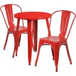 BOWERY-HILL-3-Piece-24-Round-Metal-Patio-Bistro-Set-in-Red-0