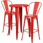 BOWERY-HILL-3-Piece-24-Round-Metal-Patio-Pub-Set-in-Red-0