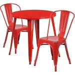 BOWERY-HILL-3-Piece-30-Round-Metal-Patio-Dining-Set-in-Red-0
