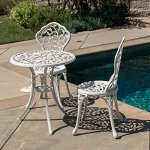 Belleze-3pc-Bistro-Set-Outdoor-Patio-Furniture-Leaf-Design-Antique-0-1
