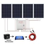 ECO-WORTHY-400-Watts-Solar-System-4pcs-100W-Poly-Solar-Panel-60A-Charge-Controller-6-String-Solar-Combiner-24cm-Cable-Connector-0-0
