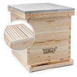 Honey-Keeper-Beehive-20-Frame-Complete-Box-Kit-10-Deep-and-10-Medium-with-Metal-Roof-for-Langstroth-Beekeeping-0