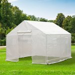 Outsunny-10-x-95-x-8-Ventilated-Portable-Walk-in-Greenhouse-with-PE-Cover-0-0
