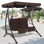 TANGKULA-2-Person-Canopy-Swing-Chair-Outdoor-Patio-Glider-Hammock-Seat-Cushioned-Furniture-Steel-0-0